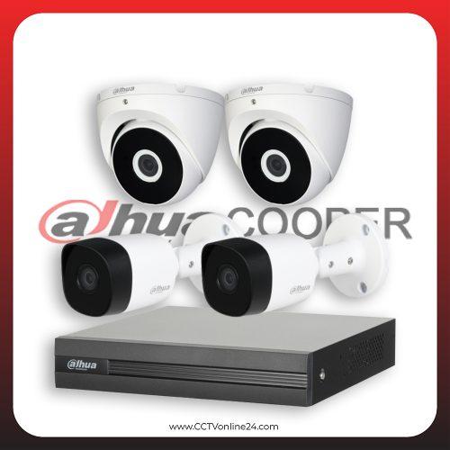 Paket CCTV Dahua Cooper 2MP Fixed 4CH