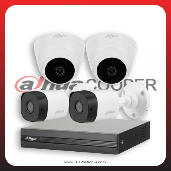 Paket CCTV Dahua Cooper 4MP Fixed 4CH