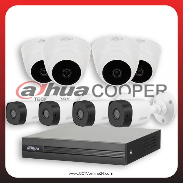 Paket CCTV Dahua Cooper 4MP Fixed 8CH