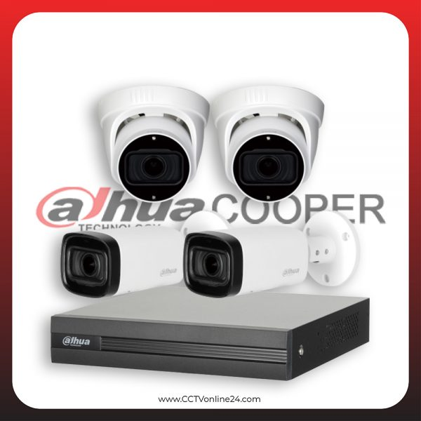 Paket CCTV Dahua Cooper 4MP Varifocal 4CH