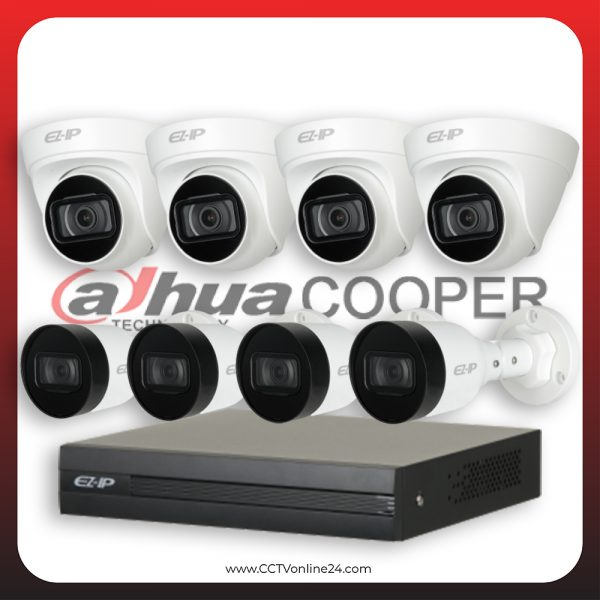 Paket CCTV Dahua Cooper IP 2MP Fixed 8CH