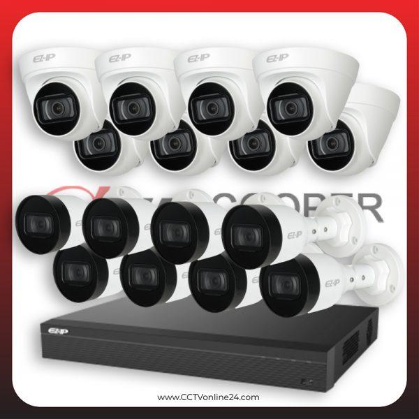 Paket CCTV Dahua Cooper IP 2MP Lite Fixed 16CH