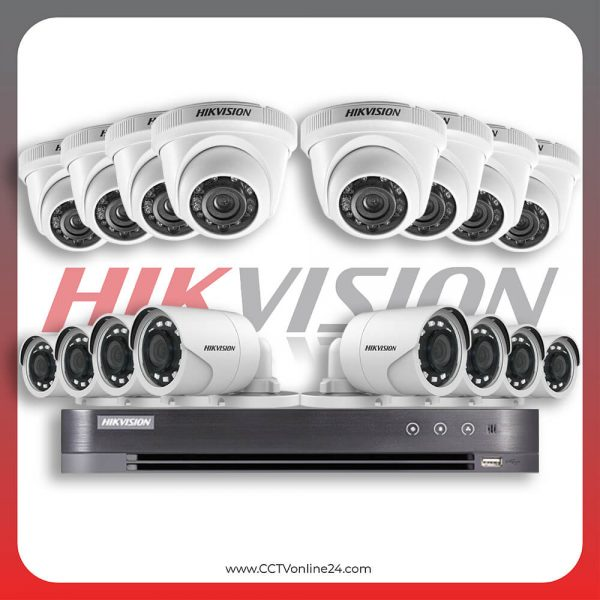 Paket CCTV Hikvision Analog HD 1.0 2MP Fixed 16CH