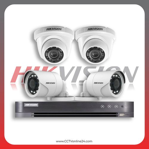 Paket CCTV Hikvision Analog HD 1.0 2MP Fixed 4CH