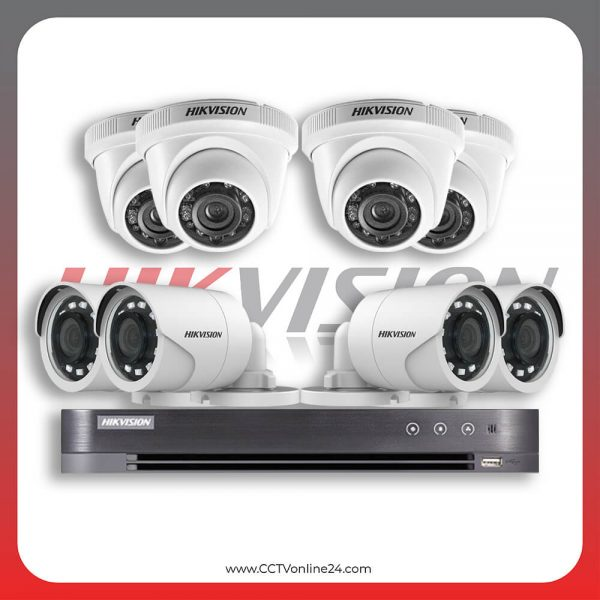 Paket CCTV Hikvision Analog HD 1.0 2MP Fixed 8CH