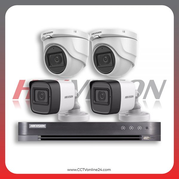 Paket CCTV Hikvision Analog HD 3.0 5MP Fixed 4CH