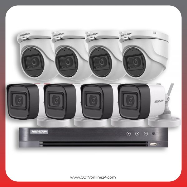 Paket CCTV Hikvision Analog HD 3.0 5MP Fixed 8CH