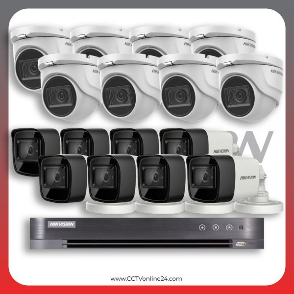 Paket CCTV Hikvision Analog HD 3.0 5MP Low Light Fixed 16CH