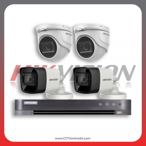 Paket CCTV Hikvision Analog HD 3.0 5MP Low Light Fixed 4CH