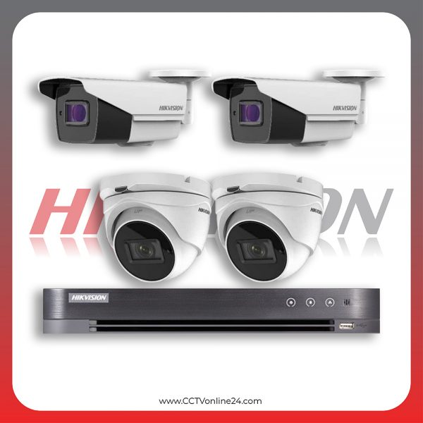 Paket CCTV Hikvision Analog HD 3.0 5MP Varifocal 4CH