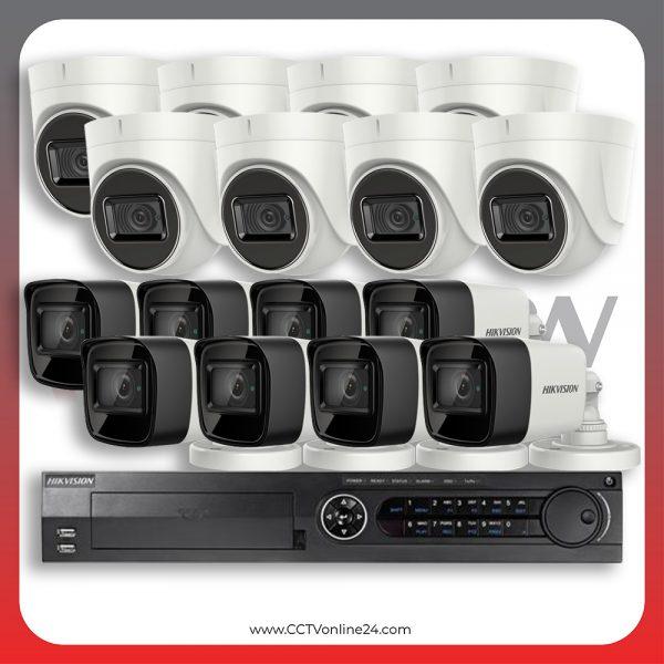 Paket CCTV Hikvision Analog HD 3.0 8.3MP 4K Eco Series Fixed 16CH