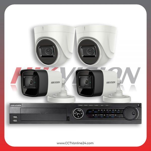 Paket CCTV Hikvision Analog HD 3.0 8.3MP 4K Eco Series Fixed 4CH