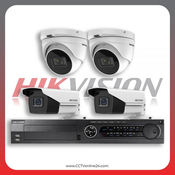 Paket CCTV Hikvision Analog HD 3.0 8.3MP 4K Eco Series Varifocal 4CH