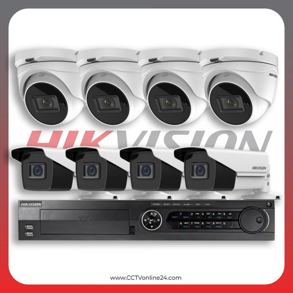 Paket CCTV Hikvision Analog HD 3.0 8.3MP 4K Eco Series Varifocal 8CH