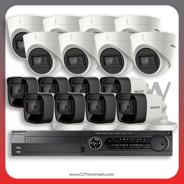 Paket CCTV Hikvision Analog HD 3.0 8.3MP 4K Ultra Low Light Fixed 16CH