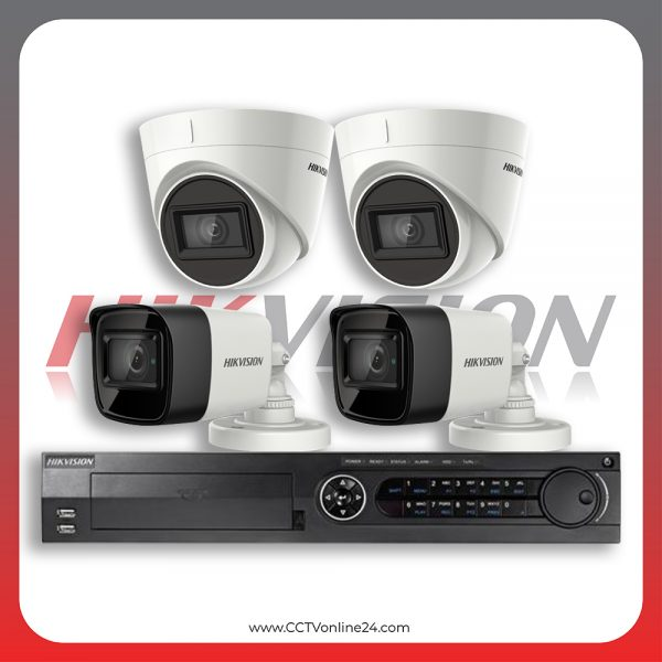 Paket CCTV Hikvision Analog HD 3.0 8.3MP 4K Ultra Low Light Fixed 4CH