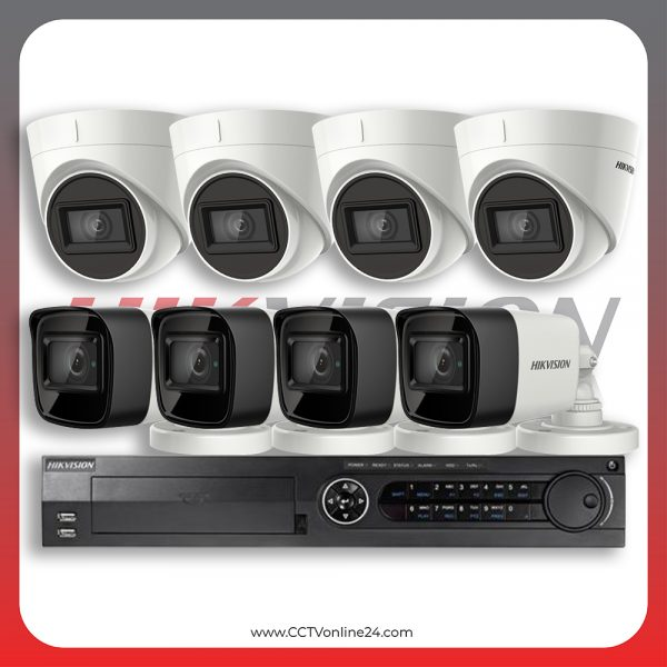 Paket CCTV Hikvision Analog HD 3.0 8.3MP 4K Ultra Low Light Fixed 8CH