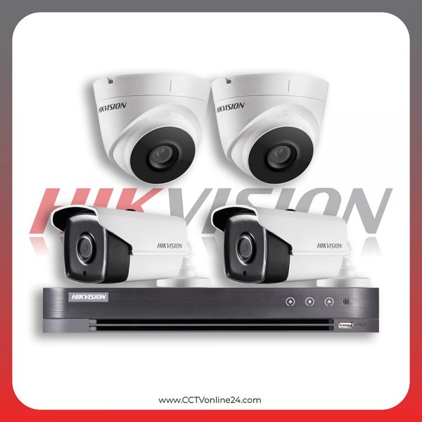 Paket CCTV Hikvision Analog HD 4.0 2MP Low Illumination Fixed 4CH