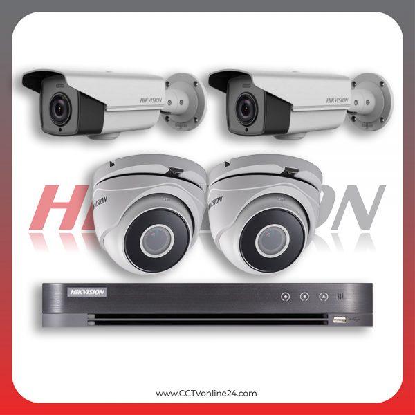 Paket CCTV Hikvision Analog HD 4.0 2MP Low Illumination Varifocal 4CH