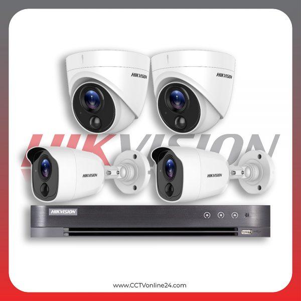 Paket CCTV Hikvision Analog HD 4.0 2MP PIR Fixed 4CH