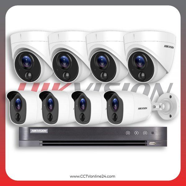 Paket CCTV Hikvision Analog HD 4.0 2MP PIR Fixed 8CH