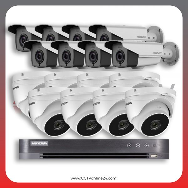 Paket CCTV Hikvision Analog HD 4.0 2MP POC Varifocal 16CH