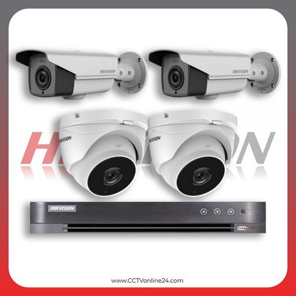 Paket CCTV Hikvision Analog HD 4.0 2MP POC Varifocal 4CH
