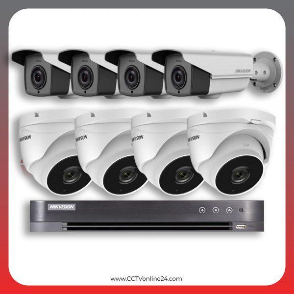 Paket CCTV Hikvision Analog HD 4.0 2MP POC Varifocal 8CH