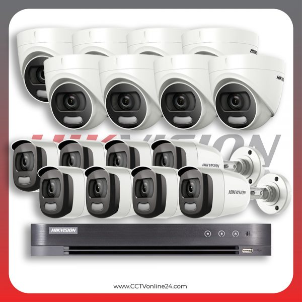 Paket CCTV Hikvision ColorVu 2MP Fixed 16CH