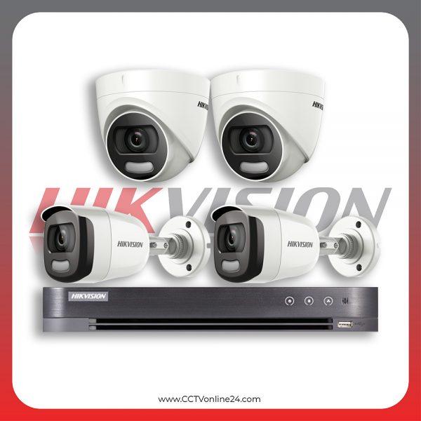 Paket CCTV Hikvision ColorVu 2MP Fixed 4CH