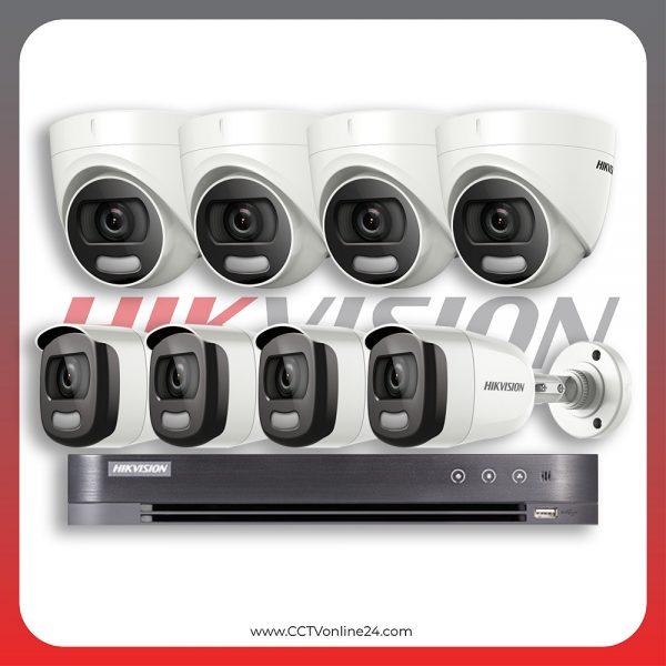 Paket CCTV Hikvision ColorVu 2MP Fixed 8CH