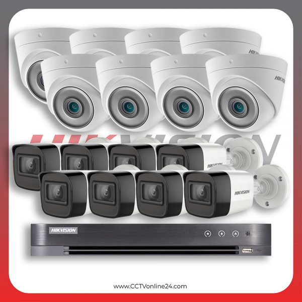 Paket CCTV Hikvision Analog HD 5.0 2MP Low Light Fixed 16CH