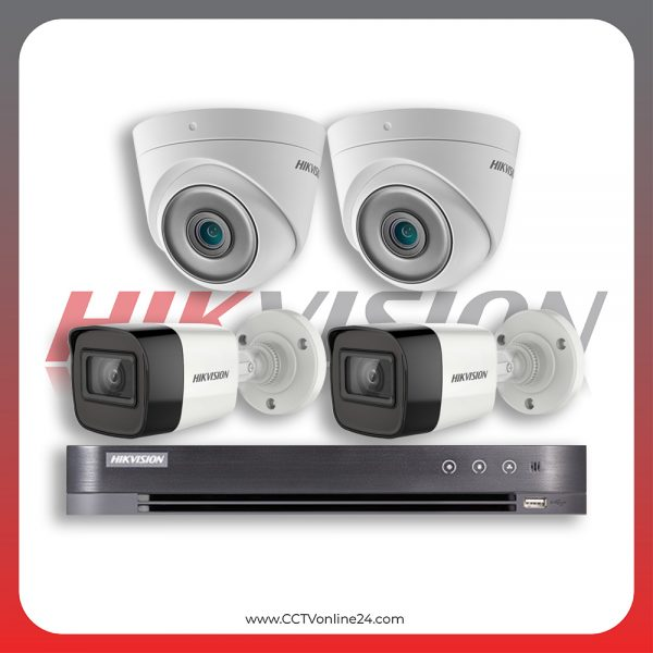 Paket CCTV Hikvision Analog HD 5.0 2MP Low Light Fixed 4CH