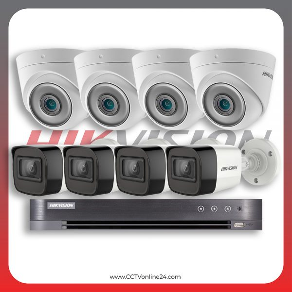 Paket CCTV Hikvision Analog HD 5.0 2MP Low Light Fixed 8CH