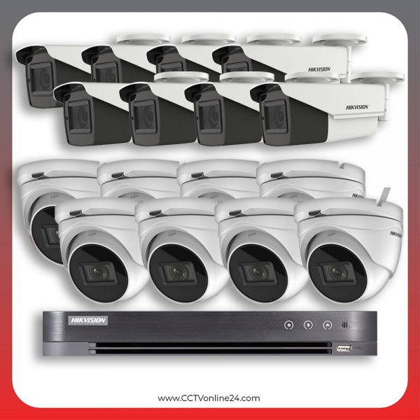 Paket CCTV Hikvision Analog HD 5.0 2MP Low Light Varifocal 16CH