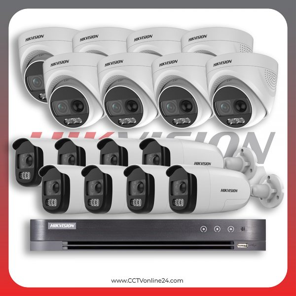 Paket CCTV Hikvision Analog HD 5.0 2MP PIR X Fixed 16CH
