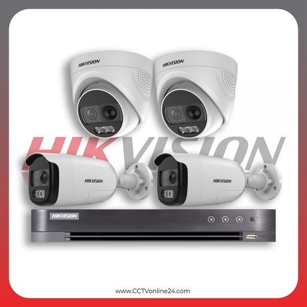 Paket CCTV Hikvision Analog HD 5.0 2MP PIR X Fixed 4CH