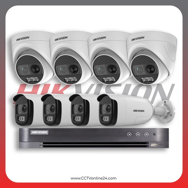 Paket CCTV Hikvision Analog HD 5.0 2MP PIR X Fixed 8CH