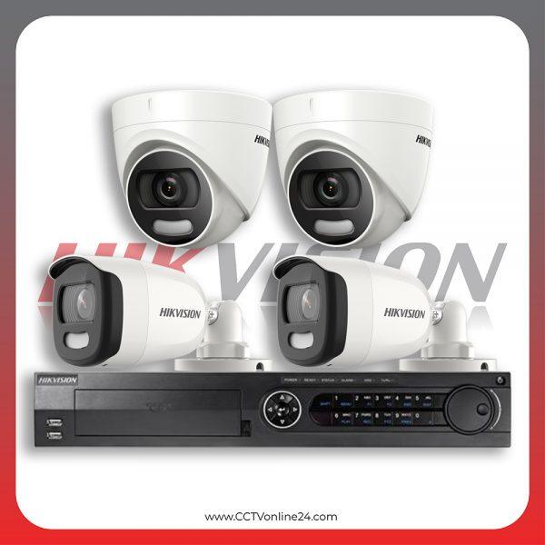 Paket CCTV Hikvision ColorVu 5MP Fixed 4CH