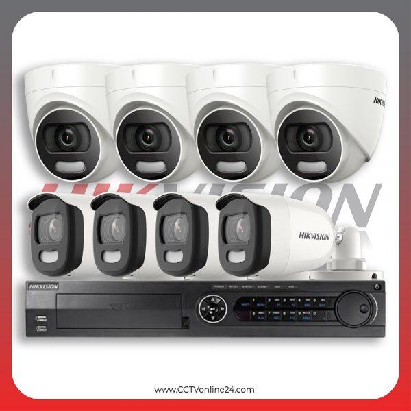 Paket CCTV Hikvision ColorVu 5MP Fixed 8CH