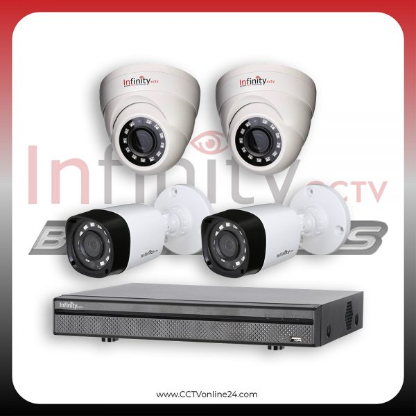 Paket CCTV Infinity Black Series 4MP Fixed 4CH