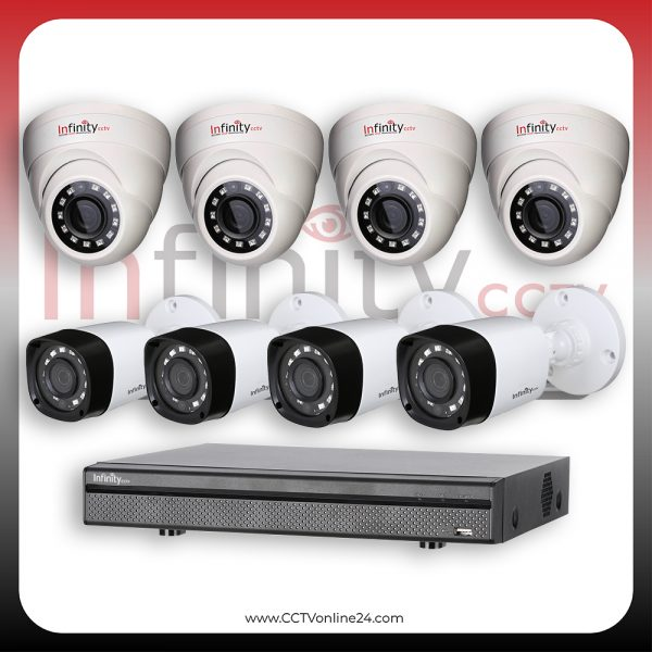 Paket CCTV Infinity Black Series 4MP Fixed 8CH