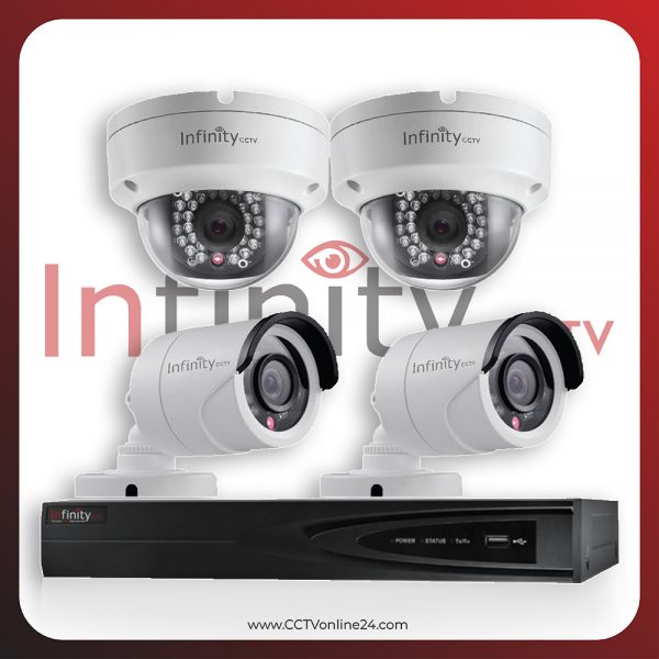 Paket CCTV Infinity IP 2MP Fixed 4CH