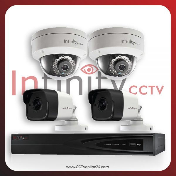 Paket CCTV Infinity IP 4MP Fixed 4CH
