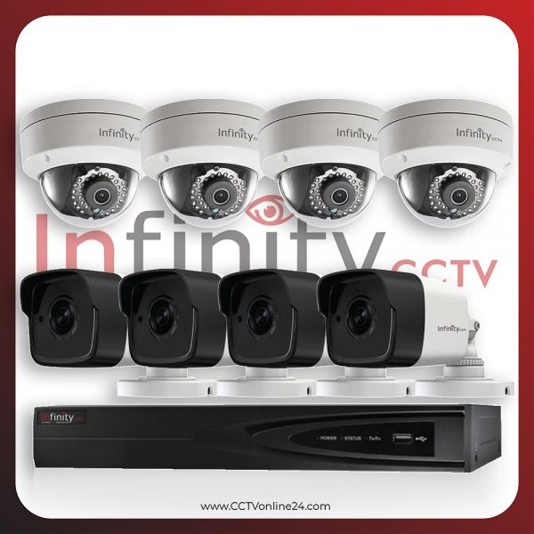 Paket CCTV Infinity IP 4MP Fixed 8CH