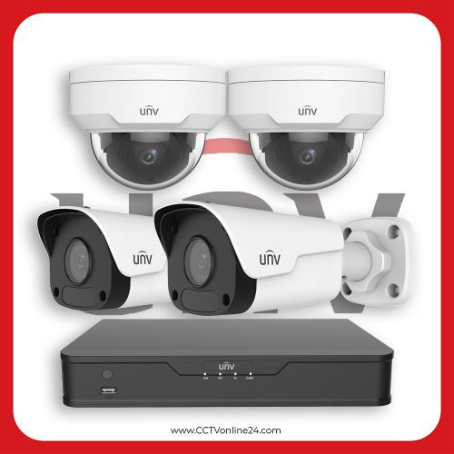 Paket CCTV Uniview IP 2MP Fixed 4CH
