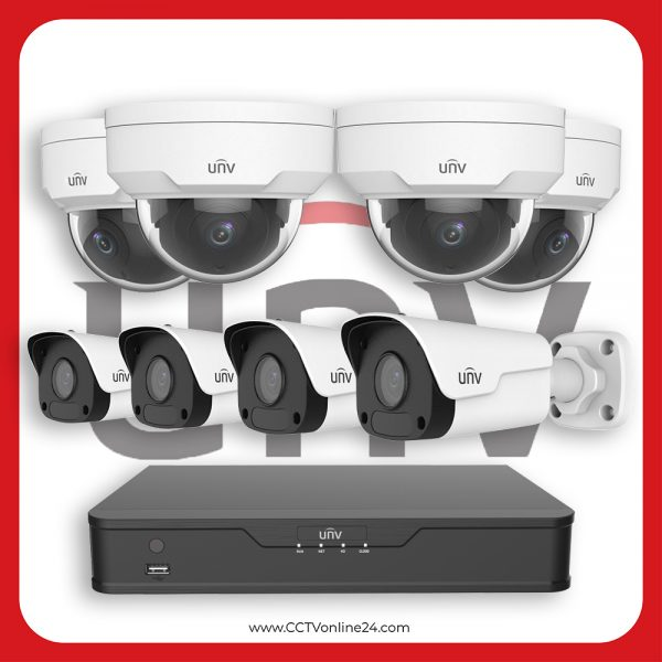 Paket CCTV Uniview IP 2MP Fixed 8CH
