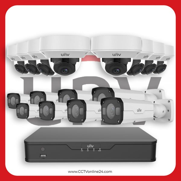 Paket CCTV Uniview IP 2MP Varifocal 16CH