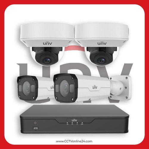 Paket CCTV Uniview IP 2MP Varifocal 4CH