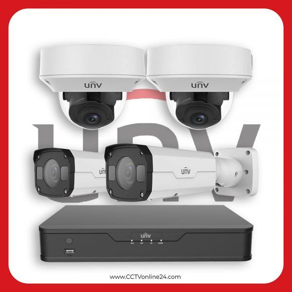 Paket CCTV Uniview IP 4MP Varifocal 4CH